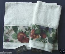 NEW 2 CUSTOM MADE KEMP & BEATLEY SONOMA FRUIT APPLE GRAPES HAND TOWELS CROSCILL