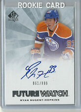 2011-12 SP Authentic Future Watch Rookie Autograph RYAN NUGENT HOPKINS 861 / 999