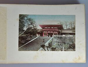 50 PHOTO ALBUM JAPAN JAPANESE GEISHA HANDTINTED ALBUMEN SAMURAI LANDSCAPE 1880