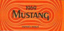1969 69 MUSTANG/MACH 1  OWNERS MANUAL