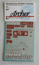 Archer 1/35 Miscellaneous US Medic Related Markings (companion AR35002) AR35149