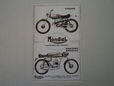 advertising Pubblicità 1973 MOTO MONDIAL CROSS/48 REKORD SPECIAL