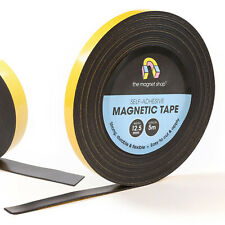 Magnetic Tape Self Adhesive, Rolls of 1.5mm thick Flexible Sticky Magnet Strips