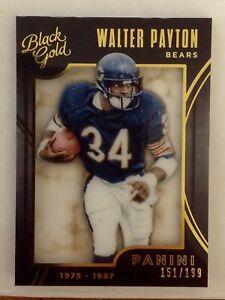 WALTER PAYTON 2015 PANINI BLACK GOLD FOOTBALL  /199 - CHICAGO BEARS