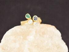 Exklusiver RING mit BRILLANTEN, SAPHIR und SMARAGD | 750er Gold | NEU