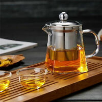 350ML Stainless Steel Infuser Strainer Heat Resistant Glass Loose Leaf Tea Pot