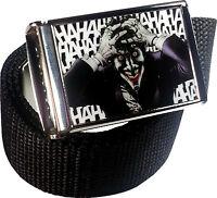 The Joker DC Comics Belt Buckle Bottle Opener Adjustable Web Belt