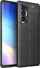 For OPPO Find X3 Neo Case, Slim Leather Carbon Fibre Shockproof Gel Phone Cover