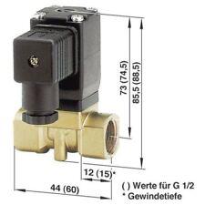 Busch Jost 8253100.8001.02400 2/2-way Solenoid Diaphragm Valve G3/8 24V DC