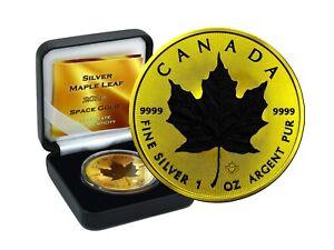 1 OZ Silber Maple Leaf Canada 2020 Gold Space Edition