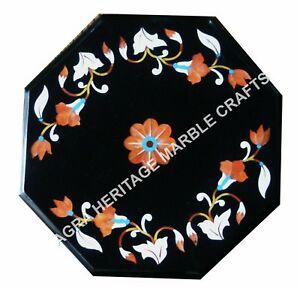 Marble Kitchen Coffee Cafe Table Top Marquetry Inlay Bedroom Console Decor E665