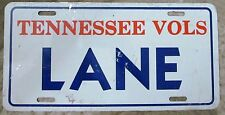 Tennessee 1989 TENNESSEE VOLS BOOSTER License Plate LANE