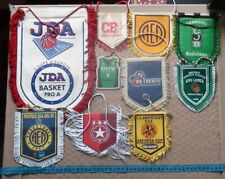 Collection official pennants basketball club France, Germany, Cyprus, Greece...