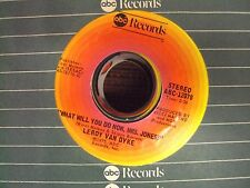 """LEROY VAN DYKE Unfaithful Fools/What Will You Do Now Mrs. Jones? 7"""" 45 country"""