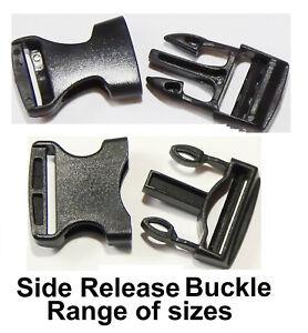 Side Quick Release Buckle Clip Backpack Black Plastic Clamp Ruck Repair UK