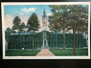 Vintage Postcard>1915-1930>Nassau Hall>Princeton University>Princeton>New Jersey