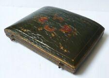 écrin boite pour parure boucles d'oreille + broche bijou jewel box 18e siècle