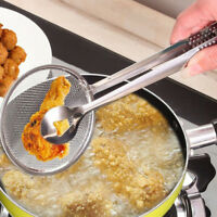 Multifunktions-Filter Löffel mit Clip Lebensmittel Küche Öl-Brat-Salat Filter P/
