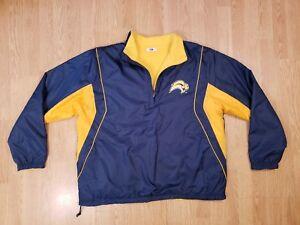 Buffalo Sabres Jacket Pullover Reversible Fleece Men's Majestic Size Large