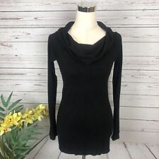 Ann Taylor Black Cowl Neck Turtleneck Sweater Women's Size Small