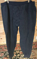 LL Bean Mens Blue Long Underwear Double Layer Base Layer Wool Blend Sz 2XL Reg