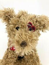 Mint Bearington Collection Plush Tan Puppy Red Heart Eye