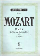 Konzert by Mozart, for Flute & Piano, Used Music Book.