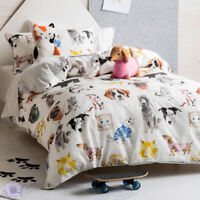 Hiccups Pets Life Quilt Duvet | Doona Cover Set | Tom-cat & Sausage Dog Cushion