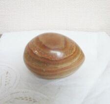 Oeuf  en pierre naturelle Onyx brun beige n° 1 6,5 cm/ 4,5 cm
