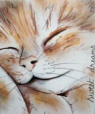 Tableau peinture moderne chat portrait cotation Art Price Akoun Drouot