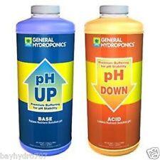 GH pH Down & pH UP 32oz Quarts Combo 1 Qt. Of Each SAVE $$ W/ BAY HYDRO $$