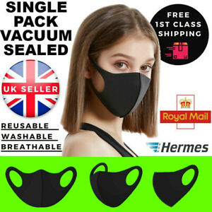 5 X Everyday Face Mask Reusable Washable Breathable Dust Pollen Pollution