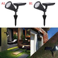 Lots LED Solar Spot Light Outdoor Garden Lawn Landscape Spotlight Path Lamp