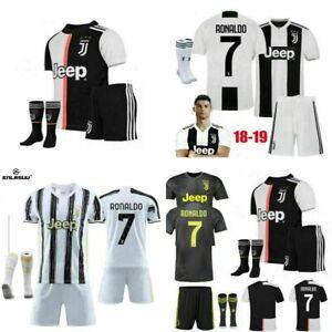 18/20 Juventus Trikot dritter Auswärtstrikot Fußball Kit für 3-14Y Jungen Kinder
