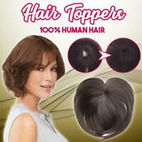 8 Colors Silky Clip-On Hair Topper Straight Hairpiece Wig
