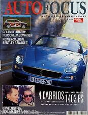 Auto Focus 2/02 2002 Bücker Jungmann Arnage T 911 XKR SL A4 Cadillac Cien XC90
