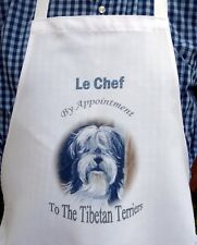 TIBETAN TERRIER DOG NEW DESIGN APRON KITCHEN ACCESSORY SANDRA COEN ARTIST PRINT