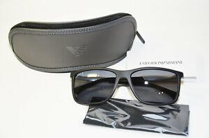 Original Armani Sonnenbrille 4058 506381 Brille schwarz Herren polarisiert Neu
