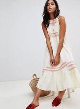 NEW Free People Another Love Smocked Midi Dress Size Large Sweet Boho