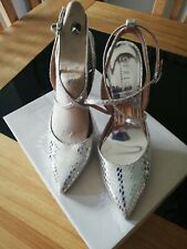 Office london silver shoes size 7/40