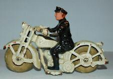 NEAT VINTAGE CAST IRON HUBLEY PATROL POLICE MOTORCYCLE