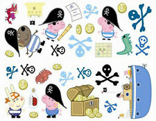 Peppa Pig's brother GEORGE wall stickers 32 decals friends Pirate treasure skull