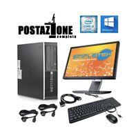POSTAZIONE COMPLETA HP COMPAQ 8200 ELITE SFF I3 2100 MONITOR MOUSE TASTIERA-