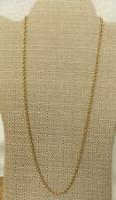 """14 Kt Gold Rope Chain Necklace  24""""L 8.4 gr"""