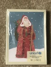 Hallmark Unicef Santa Christmas Card 12 Cards/13 Envelopes
