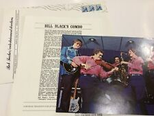 Bill Black Combo Autographed 8x10 Photo Elvis Bass Player 1980