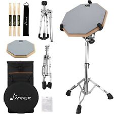 Donner Drum Practice Pad with Snare Drum Stand Kit, Portable Special Backpack...