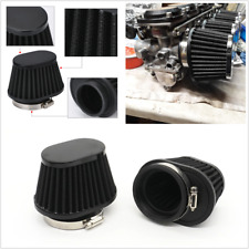 2Pcs 51mm Metal High Flow Cone Air Filter Kit Black Universal Fit For Car SUV