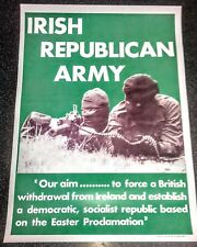 IRISH REPUBLICAN POSTER MEMORABILIA LONG KESH SINN FEIN EASTER PROCLAMATION EIRE