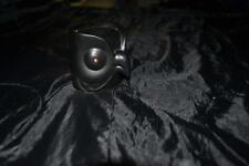 Meditation Black Owl porcelain tea light candle holder oil incence